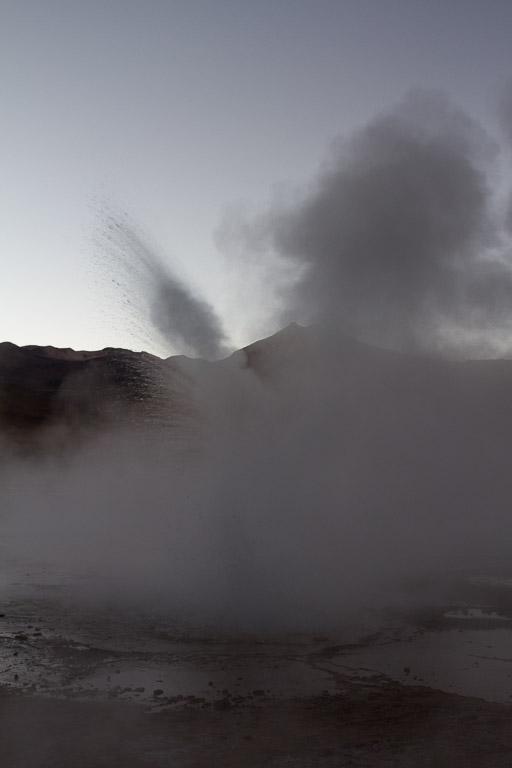 Sunrise, Geyser del Tatio, Atacama, Chile