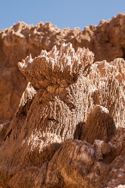 Salt crystals, Valle de la Luna, Atacama, Chile