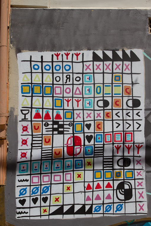 Street Art, Secret code, Valparaiso, Chile