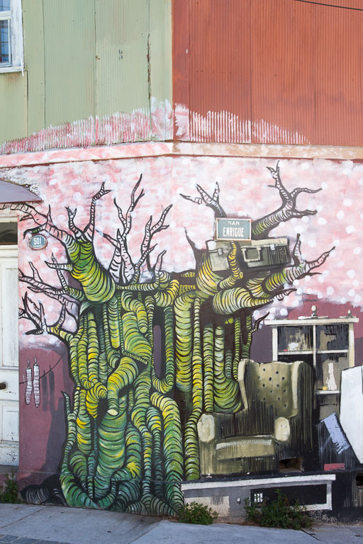 Street Art, Tree, Valparaiso, Chile