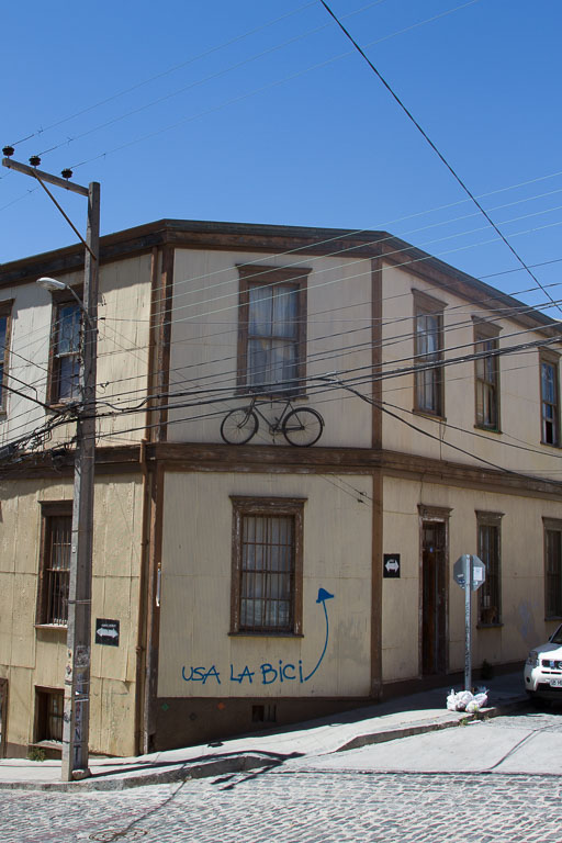 Use the Bike, Street Art, Valparaiso, Chile