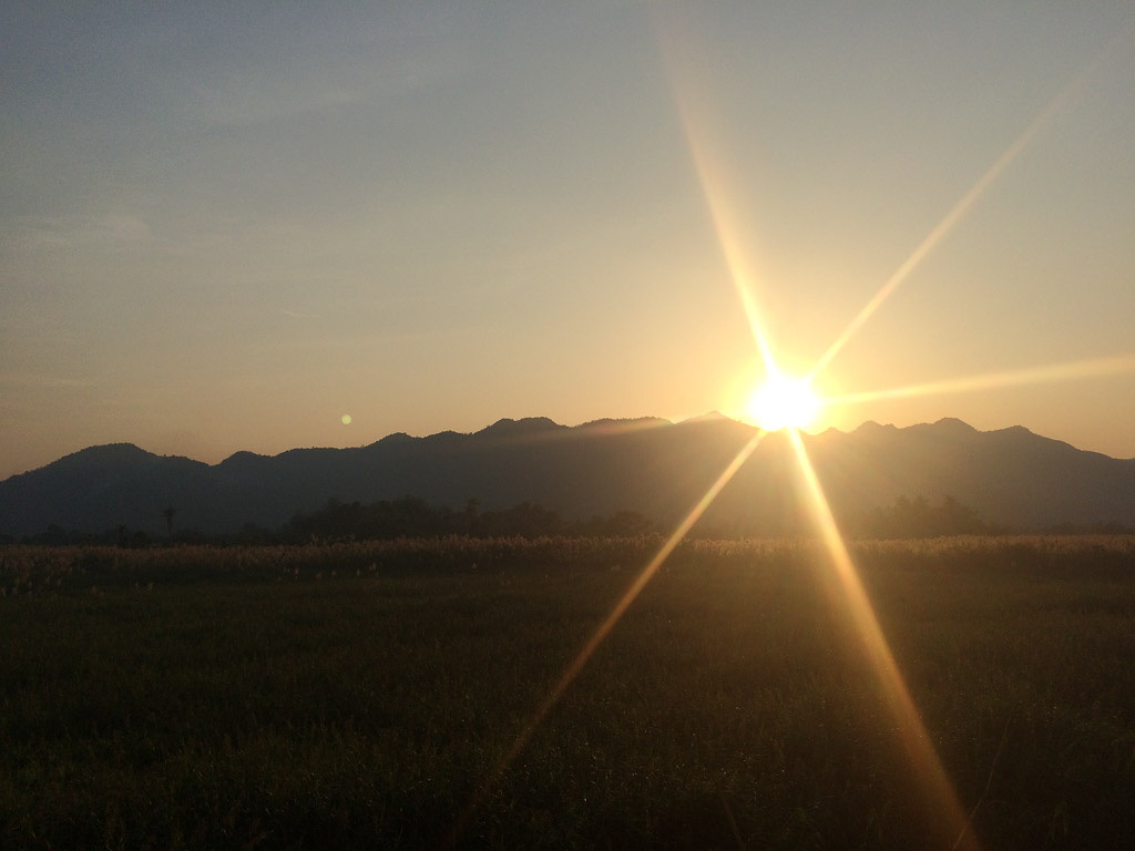 Sunset over Kanchanaburi, Thailand