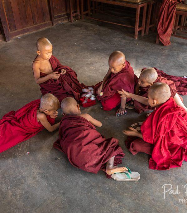 Young orphans @ Kyan Sit Thar Umin Orphanage Monastery - Bagan, Myanmar