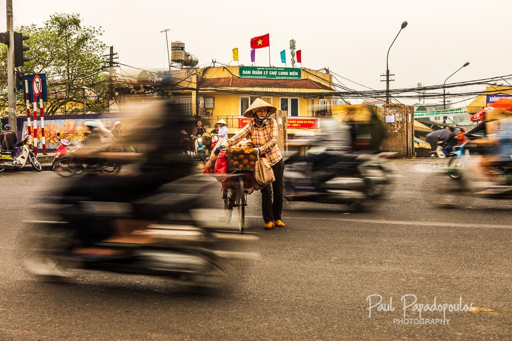 Crossing the streets of Hanoi - Hanoi, Vietnam