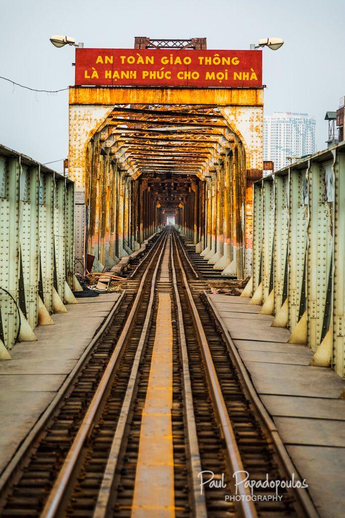Life along the train tracks - Hanoi, Vietnam