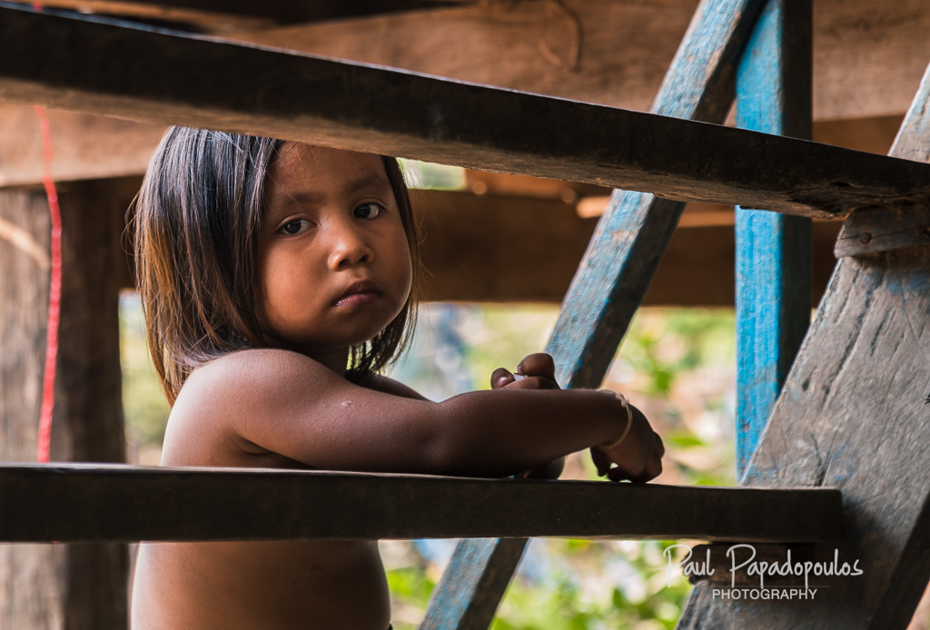 Little girl - Kampong Khleang, Cambodia