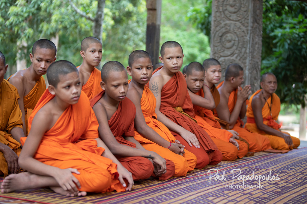 Praying at Bayon Monastery, Siem Reap - Cambodia