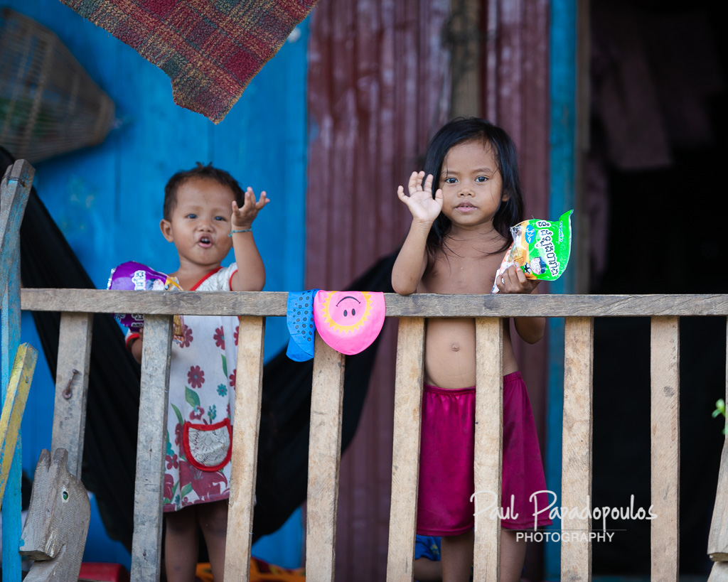 Kids around the Tonle Sap