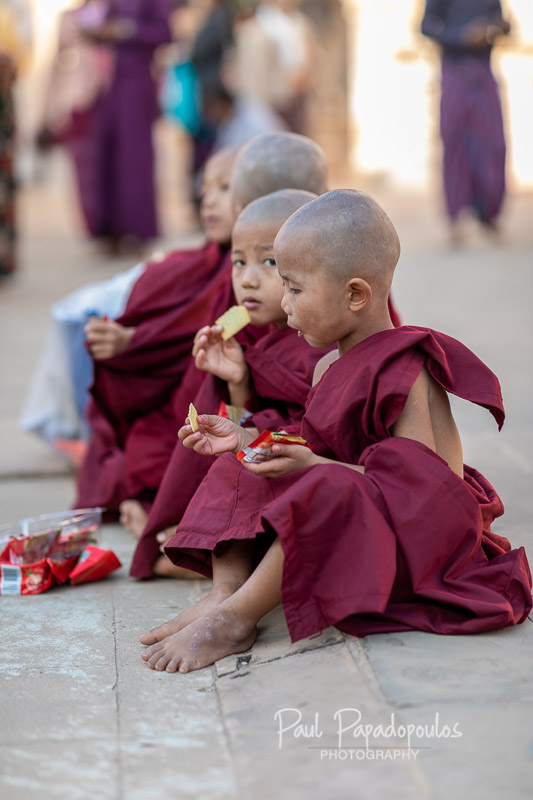 A rest and a snack - Ananda Festival - Bagan, Myanmar